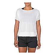 Womens ASICS Crop Short Sleeve Technical Tops - Brilliant White L