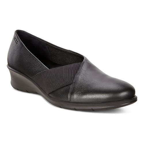 Womens Ecco Felicia Stretch Ballerina Casual Shoe - Black 35
