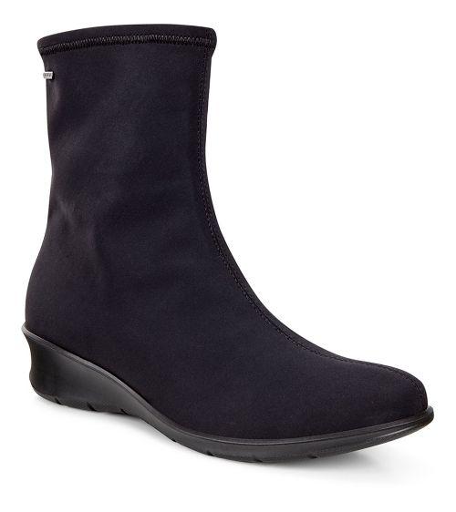 Womens Ecco Felicia GTX Boot Casual Shoe - Black/Black 40