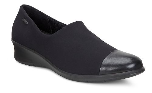 Womens Ecco Felicia GTX Slip on Casual Shoe - Black/Black 36