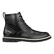 Mens Timberland Britton Hill Wing Tip Casual Shoe - Black Full Grain 7