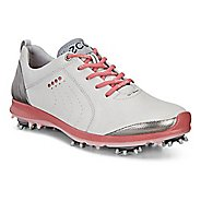 Womens Ecco Golf Biom G2 Free Cleated Shoe - Concrete/Silver Pink 40