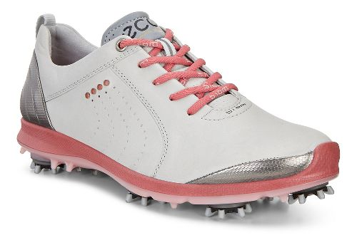 Womens Ecco Golf Biom G2 Free Cleated Shoe - Concrete/Silver Pink 36