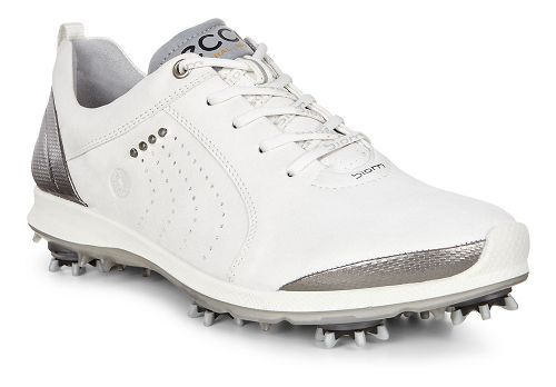 Womens Ecco Golf Biom G2 Free Cleated Shoe - White/Buffed Silver 38