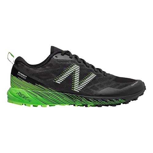 Mens New Balance Summit Unknown Trail Running Shoe - Black/Lime 10.5