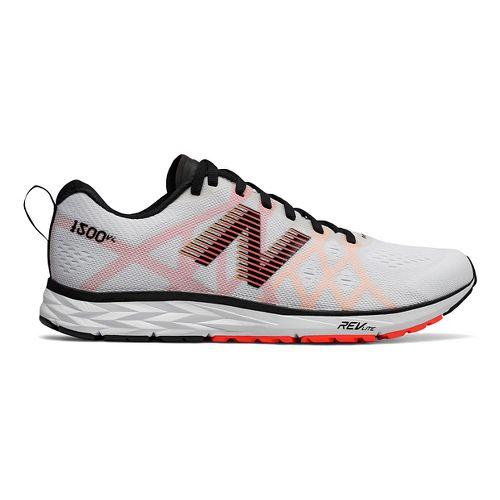 Mens New Balance 1500v4 Running Shoe - White/Black 8.5