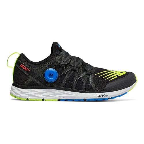 Mens New Balance 1500v4 - BOA Running Shoe - Black/Coral/Blue 7
