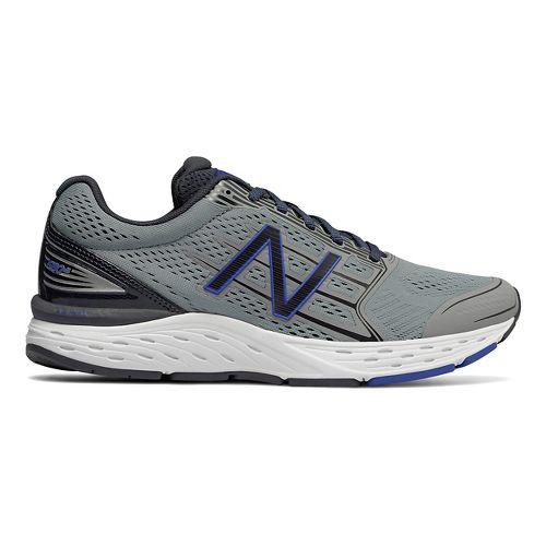 Mens New Balance 680v5 Running Shoe - Steel/Pacific 8