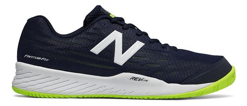 Mens New Balance 896v2 Court Shoe - Pigment/Highlight 7