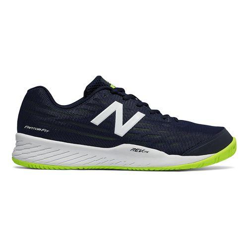 Mens New Balance 896v2 Court Shoe - Pigment/Highlight 8.5