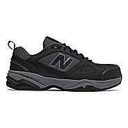 Womens New Balance 627v2 Walking Shoe - Black/Purple 5