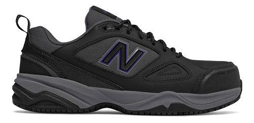 Womens New Balance 627v2 Walking Shoe - Black/Purple 8