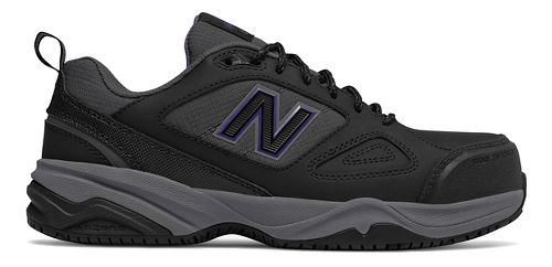 Womens New Balance 627v2 Walking Shoe - Black/Purple 8.5