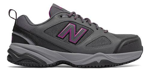 Womens New Balance 627v2 Walking Shoe - Grey/Pink 9.5