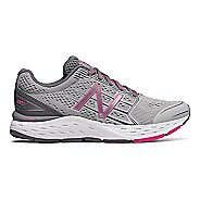 Womens New Balance 680v5 Running Shoe - Silver/Gunmetal/Pink 8.5