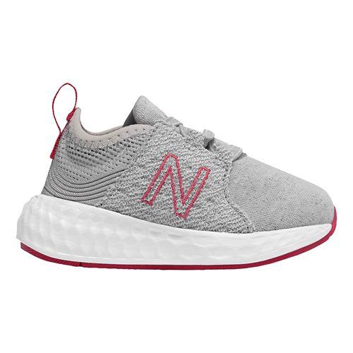 Kids New Balance Fresh Foam Cruz v1 Running Shoe - Silver/Pink 8C