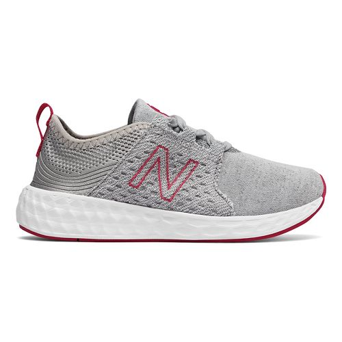 Kids New Balance Fresh Foam Cruz v1 Running Shoe - Silver/Pink 1Y