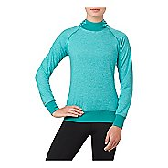 Womens ASICS Half-Zips & Hoodies Technical Tops - Lake Blue Heather M