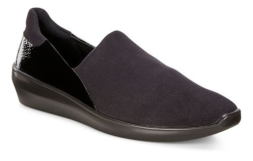 Womens Ecco Incise Urban Slip On Casual Shoe - Black 39