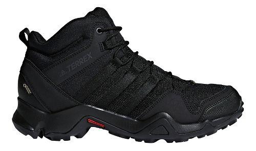 Mens adidas Terrex AX2R Mid GTX Hiking Shoe - Black/Black 8.5