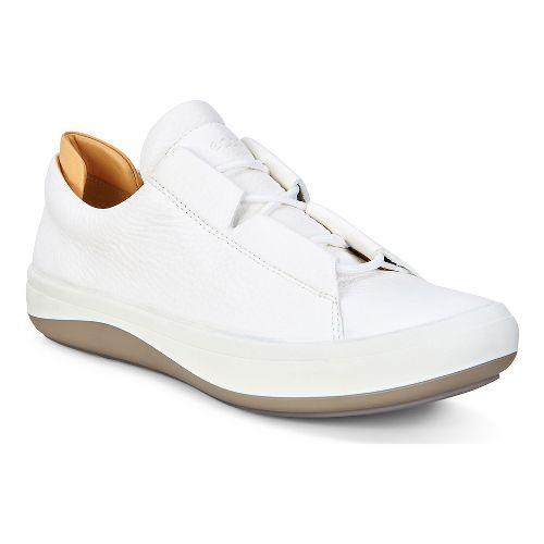 Womens Ecco Kinhin Low Casual Shoe - White/Veg Tan 38