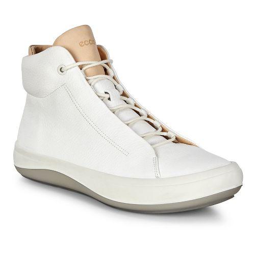 Womens Ecco Kinhin Mid Casual Shoe - White/Veg Tan 39