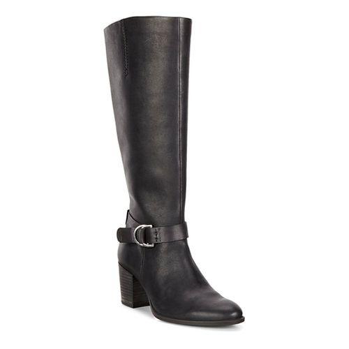 Womens Ecco Shape 55 Tall Boot Casual Shoe - Black/Black 38