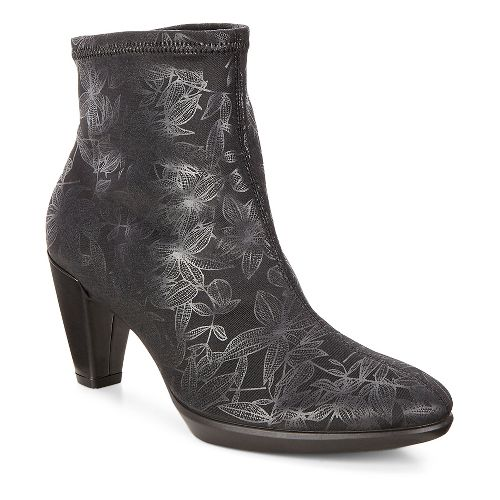 Womens Ecco Shape 55 Plateau Ankle Casual Shoe - Black-Black/Black 38