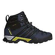Mens adidas Terrex Scope High GTX Hiking Shoe - Blue/Black 10.5