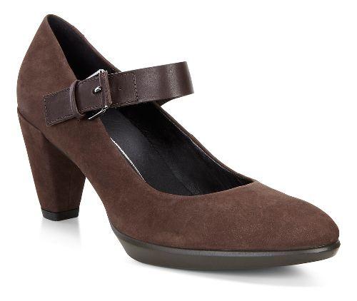 Womens Ecco Shape 55 Buckle Mary Jane Casual Shoe - Coffee/Coffee 38