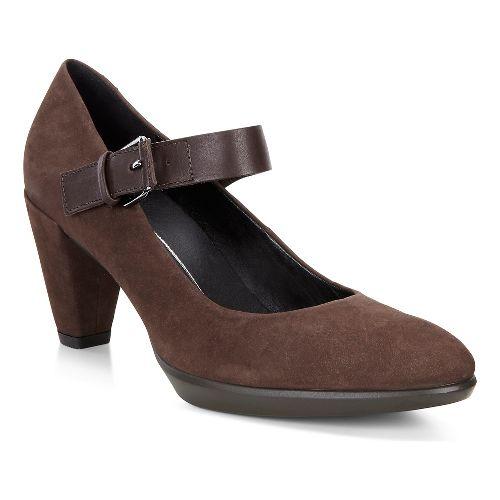 Womens Ecco Shape 55 Buckle Mary Jane Casual Shoe - Coffee/Coffee 40