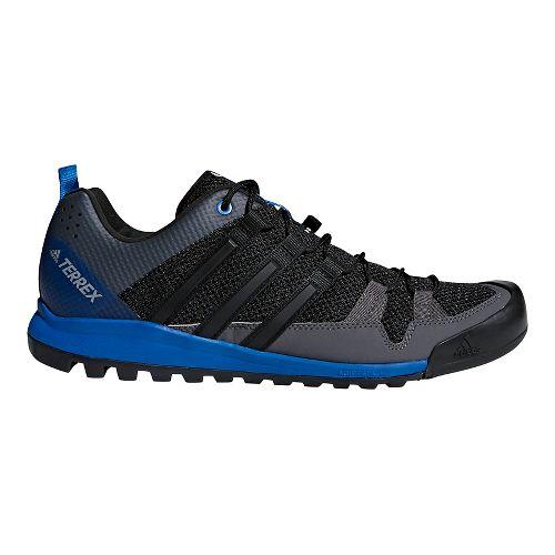 Mens adidas Terrex Solo Hiking Shoe - Black/Blue 10.5