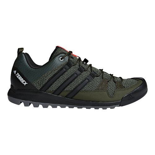Mens adidas Terrex Solo Hiking Shoe - Black/Green 12.5