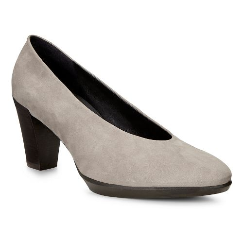 Womens Ecco Shape 55 Plateau Stack Pump Casual Shoe - Warm Grey 41