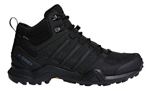 Mens adidas Terrex Swift R2 Mid GTX Hiking Shoe - Black/Black 8.5