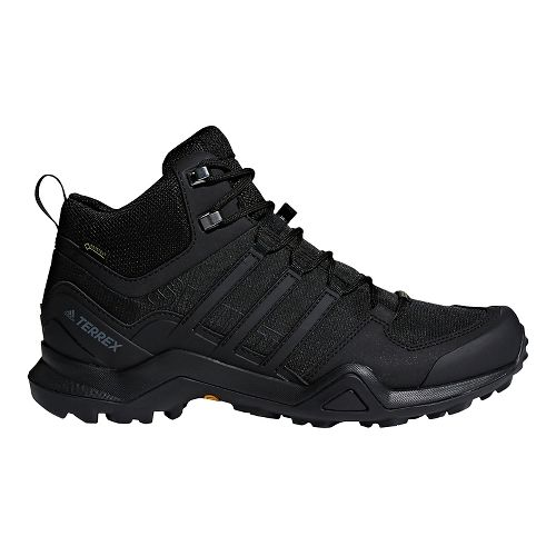 Mens adidas Terrex Swift R2 Mid GTX Hiking Shoe - Black/Black 10.5
