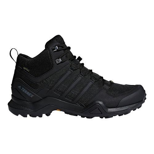 Mens adidas Terrex Swift R2 Mid GTX Hiking Shoe - Black/Black 14