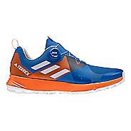 Mens adidas Terrex Two BOA Trail Running Shoe - Blue/Grey/Orange 9