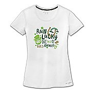 Womens Brooks St Pattys T-Shirt Short Sleeve Technical Tops