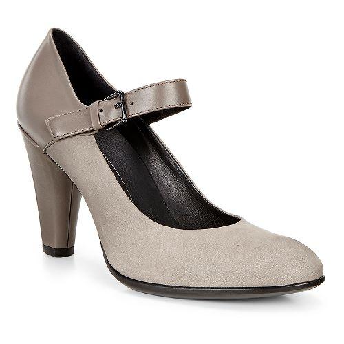 Womens Ecco Shape 75 Round MJ Casual Shoe - Warm Grey/Stone 41