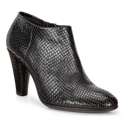 Womens Ecco Shape 75 Round Shootie Casual Shoe - Black 41