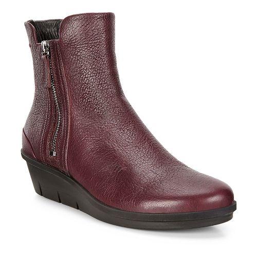 Womens Ecco Skyler Wedge Boot Casual Shoe - Bordeaux 41