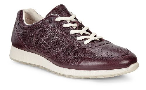 Womens Ecco Sneak Retro Tie Casual Shoe - Bordeaux 39