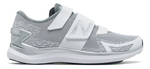 Womens New Balance 09v1 Cycling Shoe - White/Silver 6.5