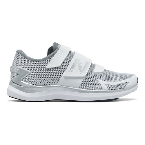 Womens New Balance 09v1 Cycling Shoe - White/Silver 11