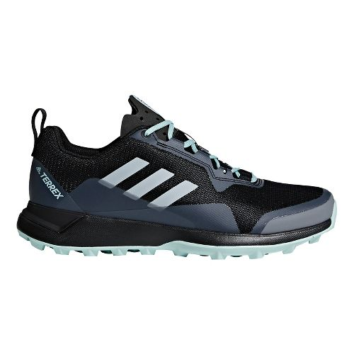 Womens adidas Terrex CMTK Trail Running Shoe - Black/White/Green 10.5