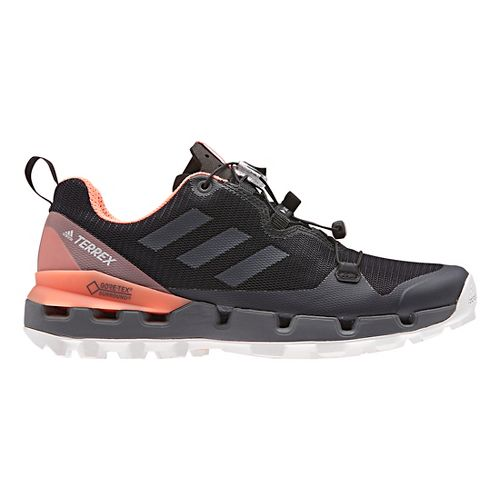 Womens adidas Terrex Fast GTX - Surround Hiking Shoe - Black/Grey/Coral 9