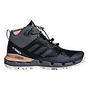 Womens adidas Terrex Fast Mid GTX - Surround Hiking Shoe - Black/Grey/Coral 7.5