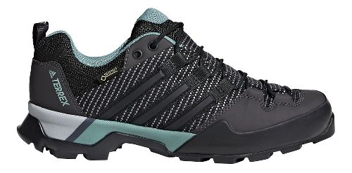 Womens adidas Terrex Scope GTX Hiking Shoe - Carbon/Black/Green 10