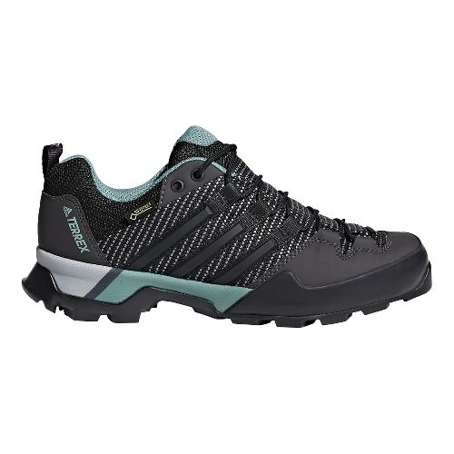 Womens adidas Terrex Scope GTX Hiking Shoe - Carbon/Black/Green 8.5